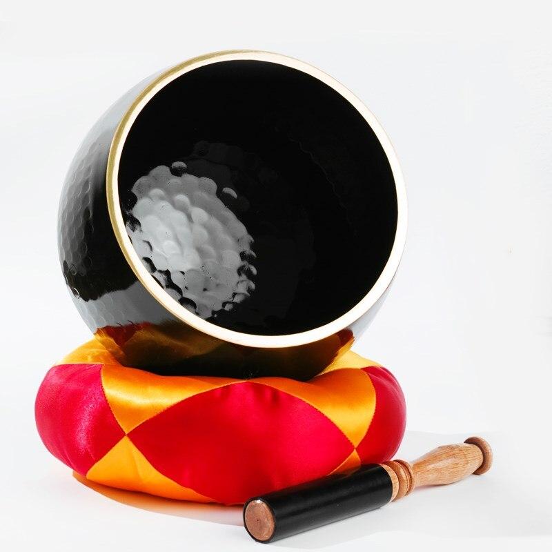 Тайваньский чистый черный медный Будда звуковая чаша медные украшения медные тарелки для медитации йоги Звуковая Терапия медные тарелки