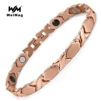 welmag fashion health magnetic titanium bracelet sport male bangles energy bio magnetic negative ion germanium bracelet jewelry