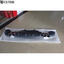 Q5 RSQ5 tuyaux déchappement de lèvre de diffuseur de pare-chocs arrière pour Audi Q5 RSQ5 13-16