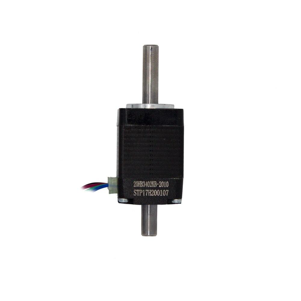 Motor paso a paso eje hueco nema 8 20 Hybird 2 fases 0.8A 1,8 4 cables, longitud 30mm accesorios de impresora 3D 20HB3402KB-2010