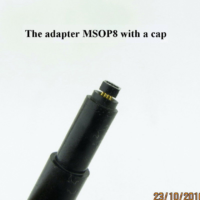 MSOP8 pogo adapter with guide-cap