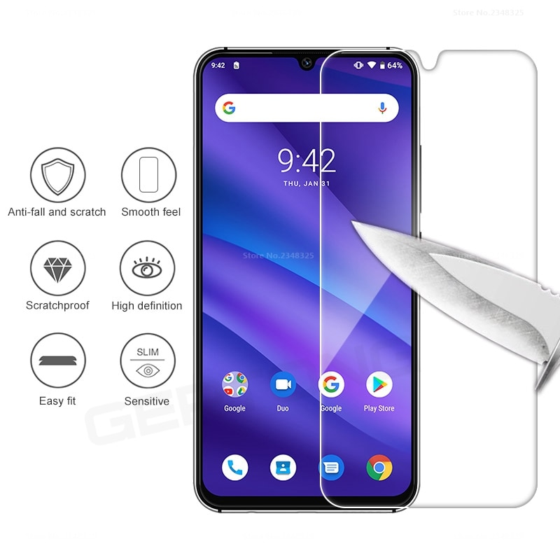 High Clear Tempered Glass For Umidigi A5 pro Screen Protector Presice Hole Transparent Protective Fi