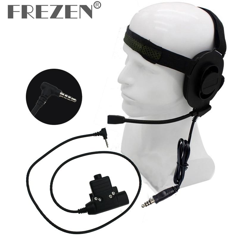 HD01 Z Tactical Bowman Elite II Headphone With U94 PTT Z113 Standard Edition Adapter For Yaesu VX-3R VX-110 FT-10R Two Way Radio