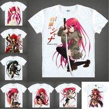 Coolprint Japanese Anime Shirt Shakugan No Shana T-Shirts Multi-style Short Sleeve Romance Shana Cosplay Costume Kawaii Gift