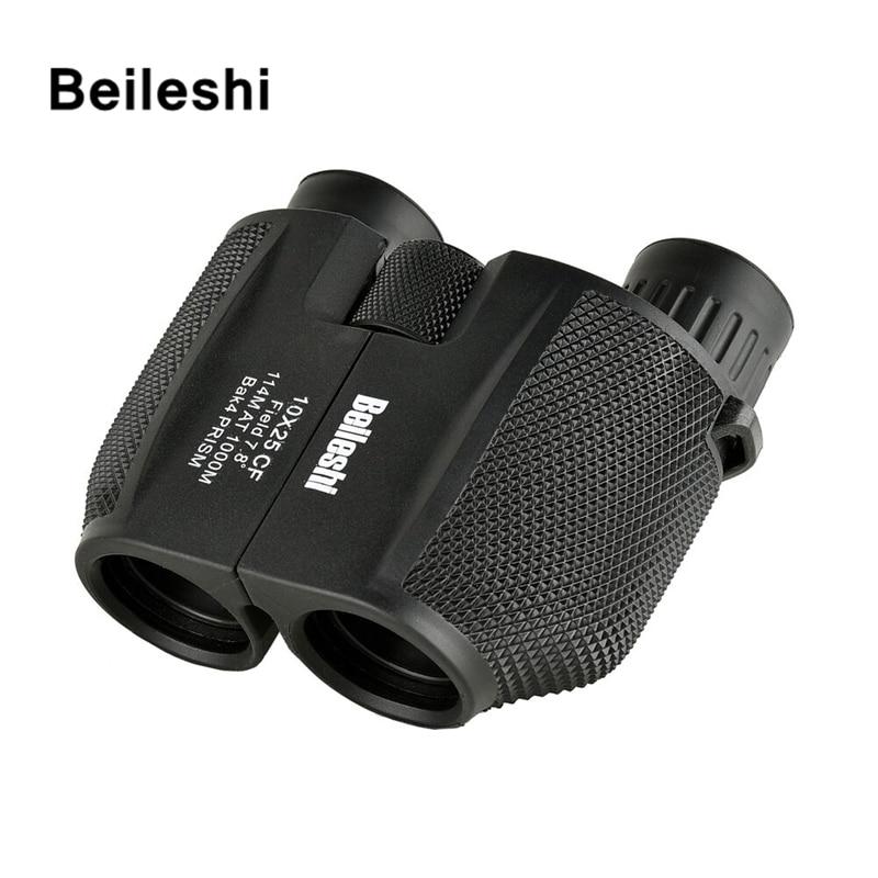 10X25 Binoculars Compact High Power Mini telescope with Carry Bag Neck Strap Waterproof HD Folding 10X Magnification Binoculars
