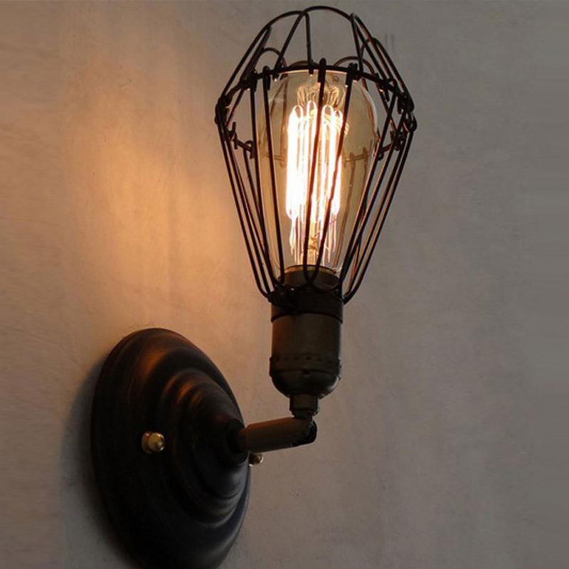 Soporte de lámpara de montaje clásico en pared luminaria E27 Socket Home Cafe Shop portalámparas decorativo con toma de luz E27