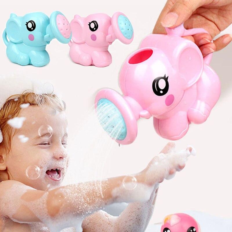 Enfants éléphant arrosoir Pot bain jouets enfants mignon bébé dessin animé en plastique bain douche outil eau jouets pour les enfants ггггг© к