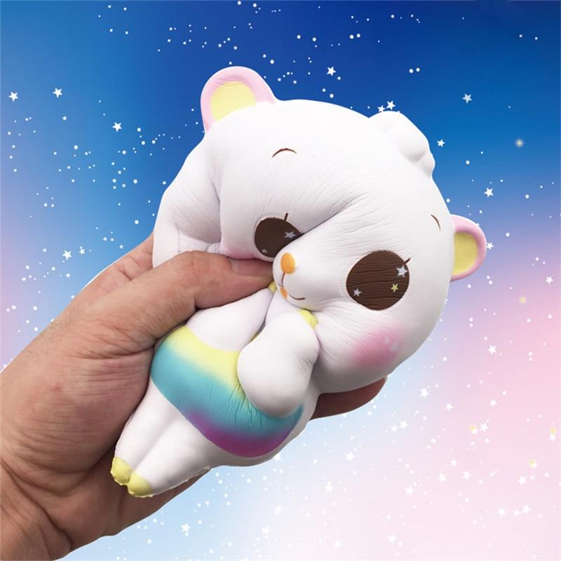 14,5 CM dibujos animados Jumbo Girl oveja Cordero Squishy lenta elevación teléfono correas DIY decoración Kawaii Animal pan Cake chico juguete para regalo