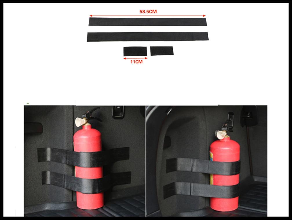 Car accessories parts fire extinguisher belt line fixing bracket velcro for BMW EfficientDynamics 335d M1 M-Zero 545i 530xi