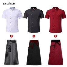 Gros noir Chef veste chemises nouveaux vêtements hôtel Chef uniforme restaurant serveuse uniformes restauration boulangerie cuisine vêtements de travail