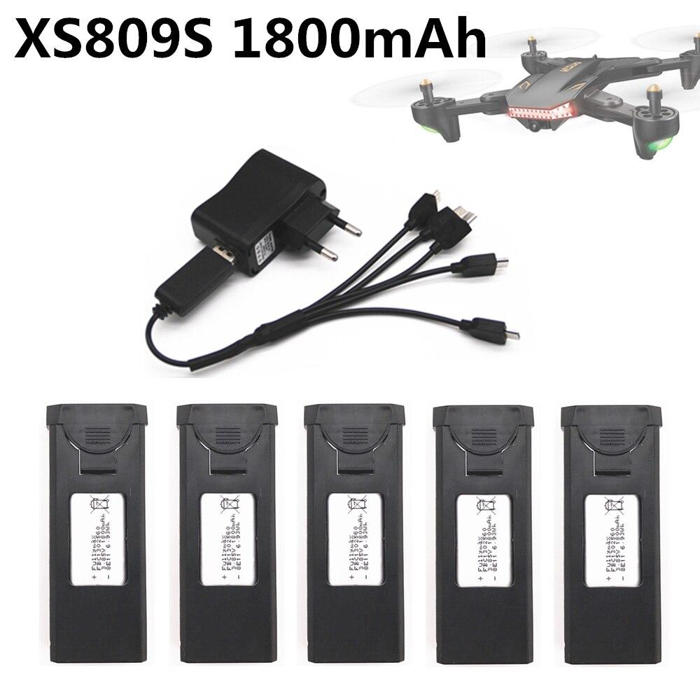 Batería Original para Visuo XS809s xs812 recambios de cuadrirrotor RC accesorios 3,7 V 1800mAh Lipo batería recargable para Drones