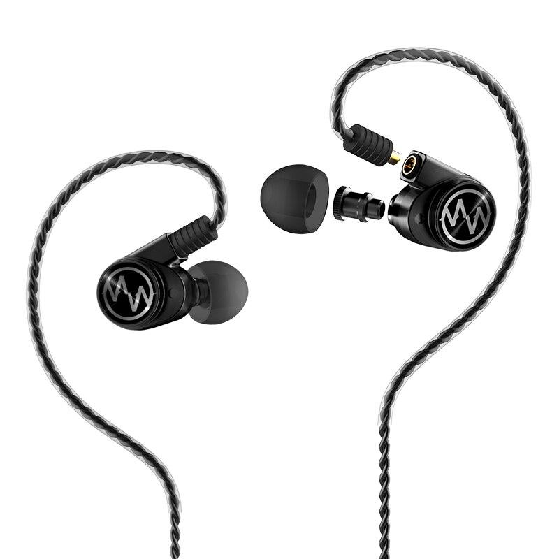 Macaw gt600s motorista duplo híbrido fones de ouvido dj monitor profissional com cancelamento ruído destacável mmcx cabo