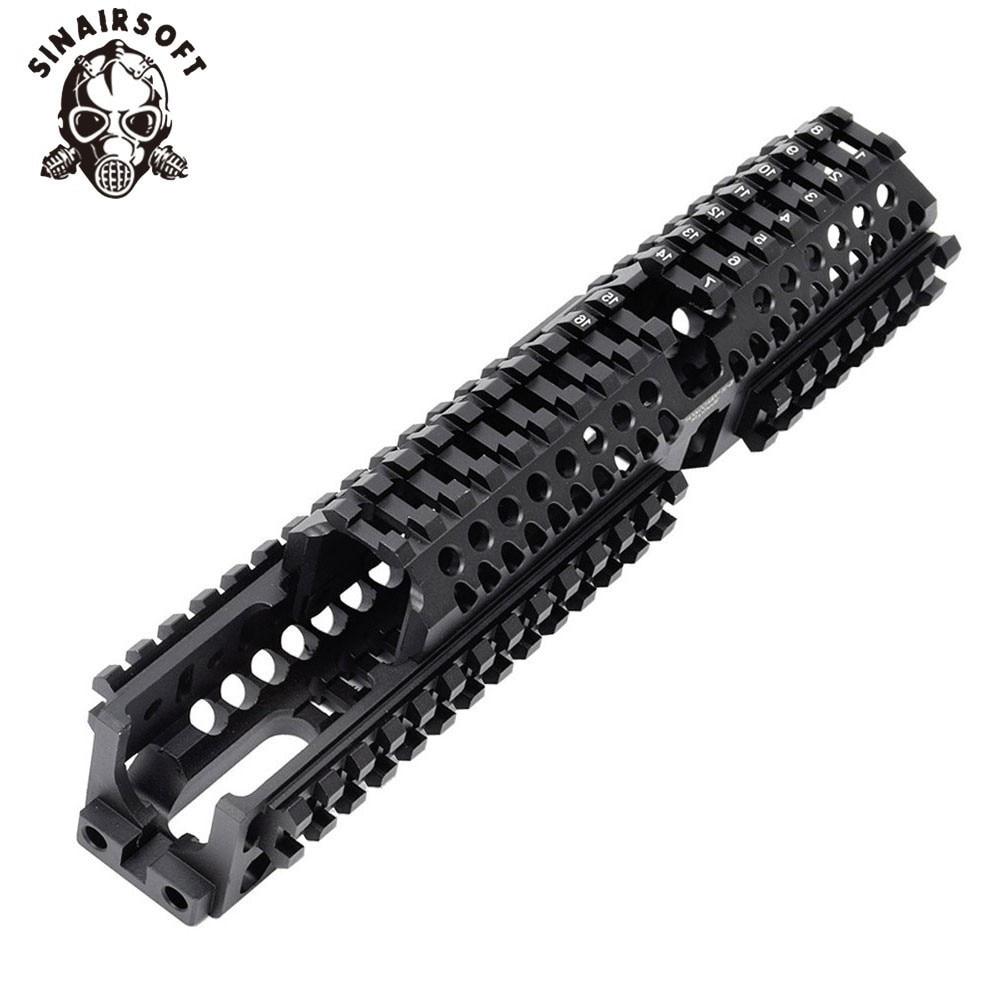 AK 47 Tactical Quad Rail CNC Aluminum Picatinny Handguard System For AK AEG/GBB Rifles B30 B31 Paintball Hunting Accessories