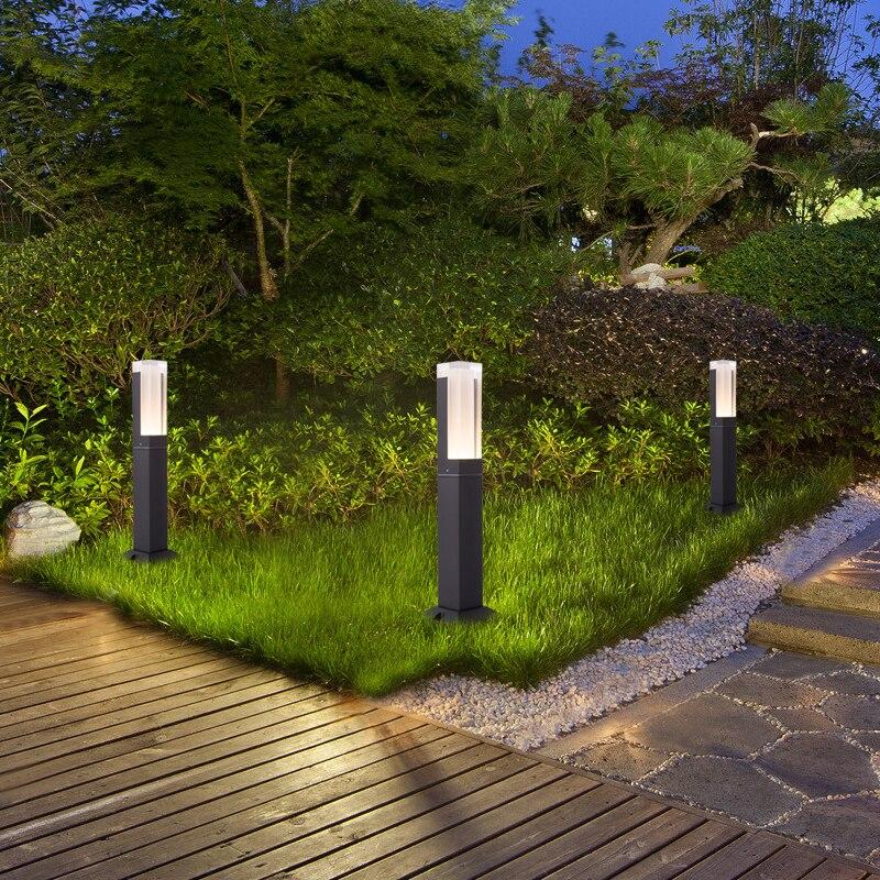 2018 جديد وصول الصمام مصباح حديقة IP65 للماء في الهواء الطلق مصباح إضاءة حديقة مصباح عمود مصباح AC85-265V