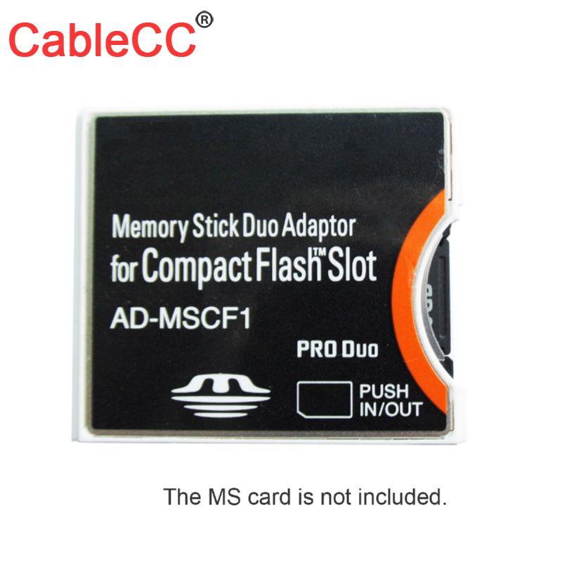 Chenyang 10 unids/lote Sony Memory Stick Duo adaptador MS a Compact flash CF Tipo II adaptador AD-MSCF1