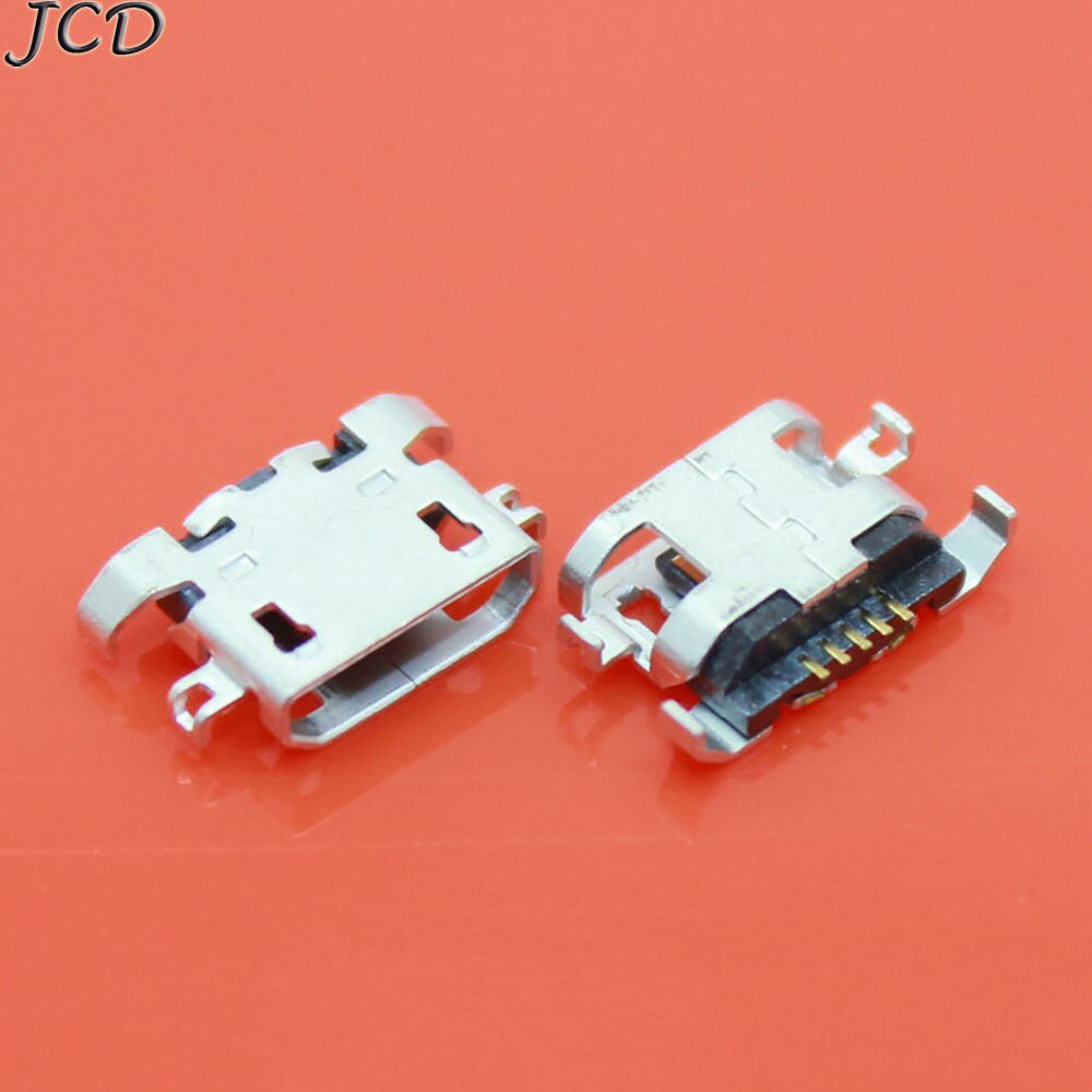 JCD 100 Uds Micro USB 5pin heavy plate 1,28mm sin boca plana lateral sin lado rizado conector hembra para teléfono móvil Mini USB