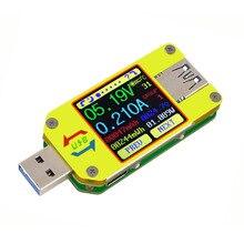 UM34 UM34C ل APP USB 3.0 اللون عرض الجهد فاحص/ مختبر التيار الكهربائي تيار مستمر USB تستر الفولتميتر مقياس التيار الكهربائي شحن البطارية 30% off
