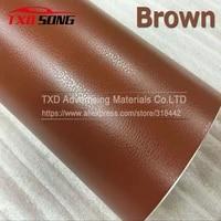 free shipping brown leather grain vinyl leather pattern vinyl sticker internal decoration size1 5230mroll