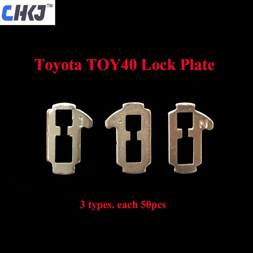 CHKJ 150 uds/lote TOY40 lengüeta de bloqueo de coche, placa de bloqueo para Toyota Camry Crown (3 tipos cada 50 uds), Kits de reparación de automóviles, suministros de cerrajero