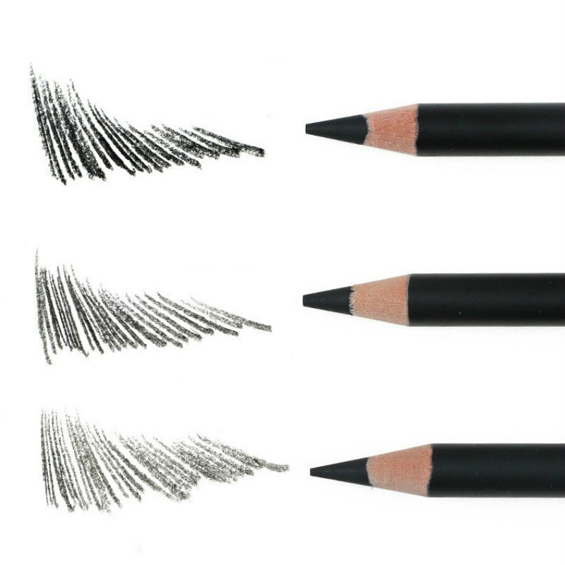 Deli-lápiz de carbón para Dibujo artístico Profesional, lápiz suave para Dibujo artístico