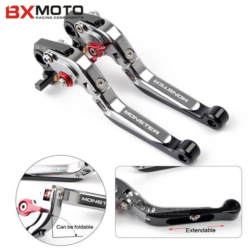 Para Ducati Monster 696 695 796 400 620 M 600 M 900 M 620 motocicleta CNC ajustable plegable palancas de embrague de freno