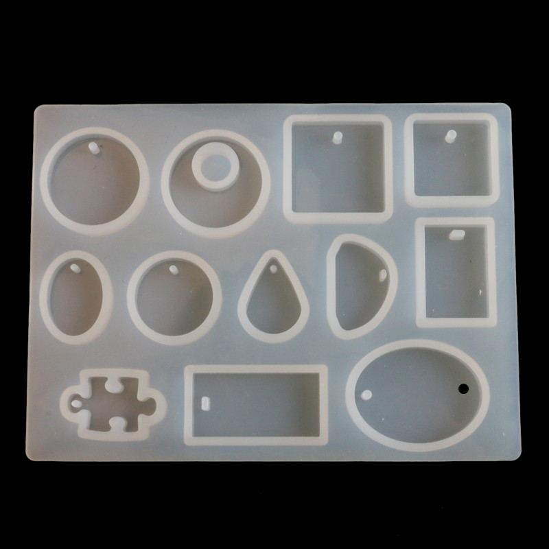 12 видов конструкций DIY Ювелирные изделия из смолы силиконовая форма в виде кабошона ювелирные изделия литье формы ремесленные инструменты