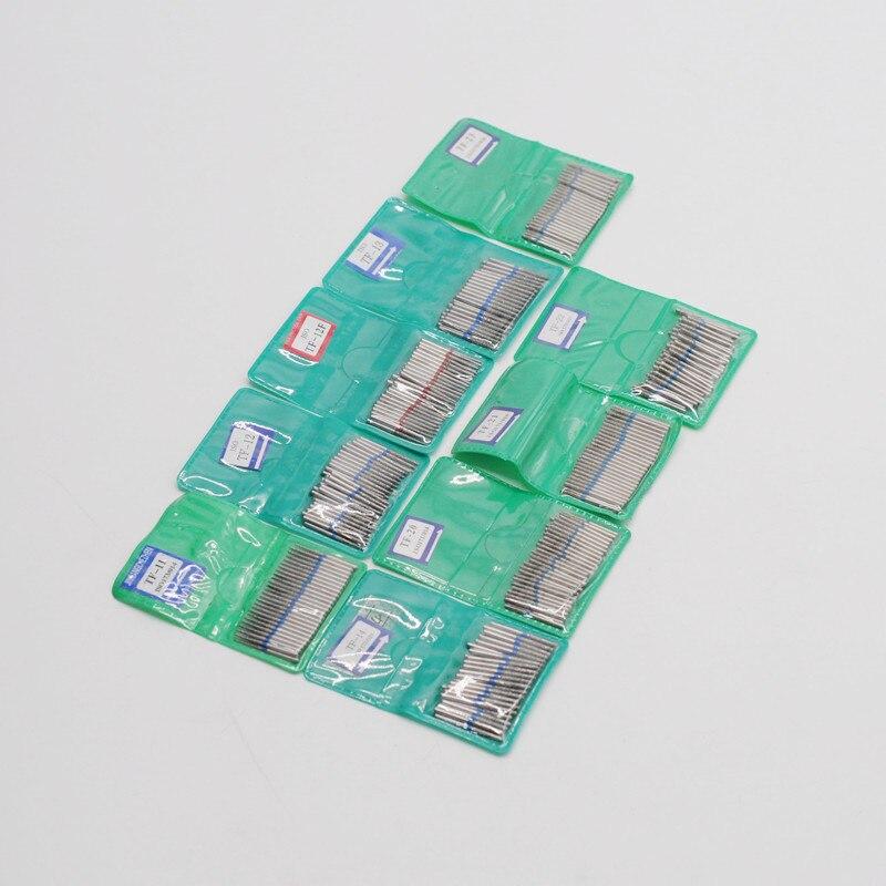 50 unids/pack Dental Diamond FG fresas de alta velocidad para pulido y suavizado de odontología serie TF