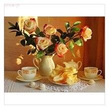 5D الماس الكامل زهور الفاوانيا التطريز عبر عدة خياطة Handmand المنزلية لتقوم بها بنفسك الديكور الحرف المواد حزمة rns3025