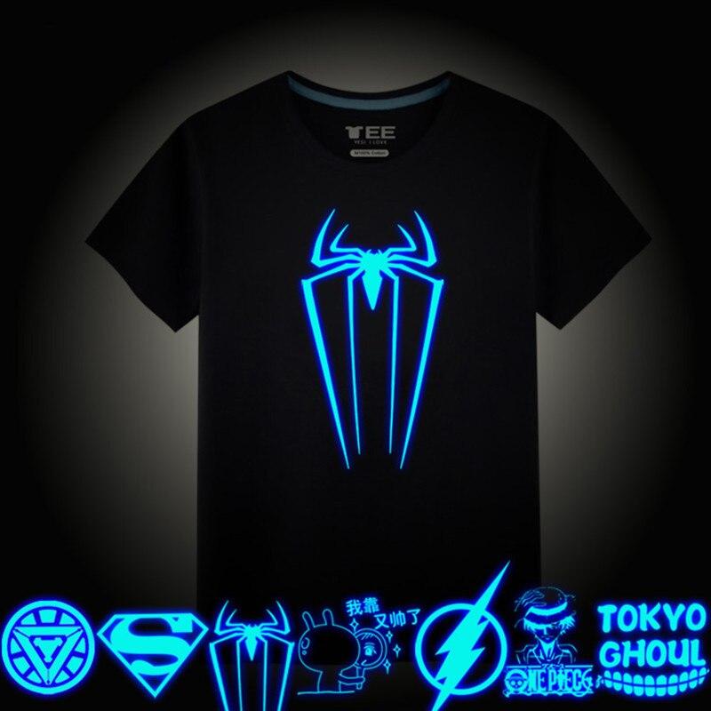 Camisetas luminosas de manga corta para niños y niñas, camiseta de Superman Batman, camisetas de Navidad para niños y niñas, diseños de 8 a 10 años