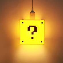Classique jeu point dinterrogation forme bloc suspension lampe jeu salle éclairage enfant chambre décor pendentif lumière moderne plafond éclairage
