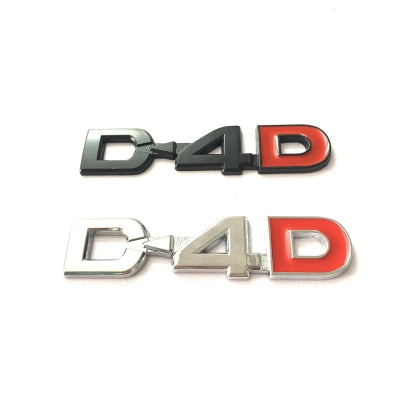 1X Auto Styling D4D Emblem Abzeichen Metall Aufkleber Aufkleber Für Toyota Land Cruiser Yaris Corolla RAV4 Verso Prado Avensis Camry hilux