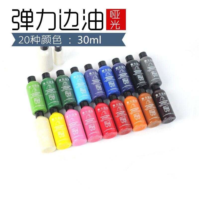 30ml, pintura colorida, borde de cuero, borde del aceite, tinte, resalta el aceite del borde