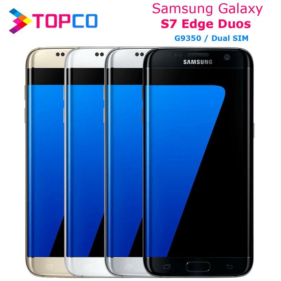 "Samsung Galaxy S7 Duos G9350 Dual Sim Original desbloqueado LTE teléfono móvil Android Octa Core 5,5 ""12MP y 5MP 4G RAM 32 GB ROM NFC"