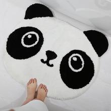 Tapis de bain en micromousse en forme de Panda   Tapis de porte de salle de bain absorbant, tapis de sol antidérapant, pour la cuisine de la chambre à coucher