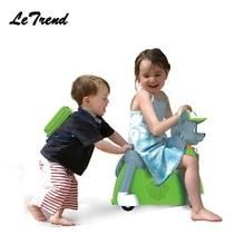 Mode mignon chien forme enfants Ride-on Trolley valise embarquement solide enfants jouet cadeau porter sur roulettes fixes roulant bagages