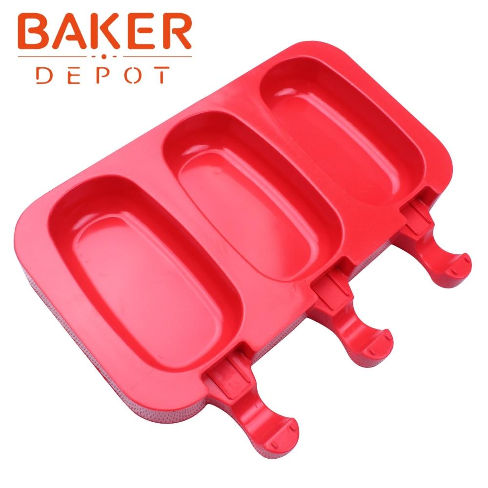 BAKER DEPOT силиконовые формы для мороженого кубик льда DIY Инструменты для изготовления шоколада леденец, пудинг формы CDSM-708