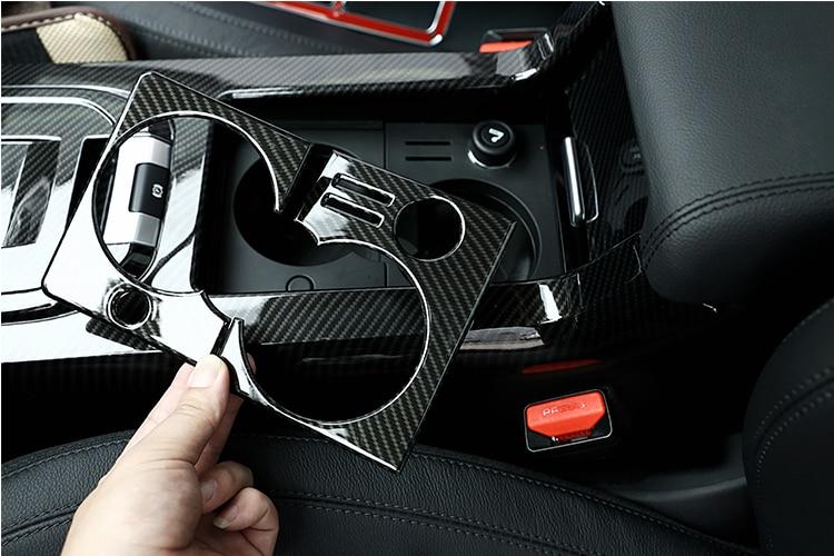 Для Land Rover Discovery Sport 2015-2017, автомобильный внутренний держатель для стакана из углеродного волокна, крышка рамы, отделка, Аксессуары для LHD
