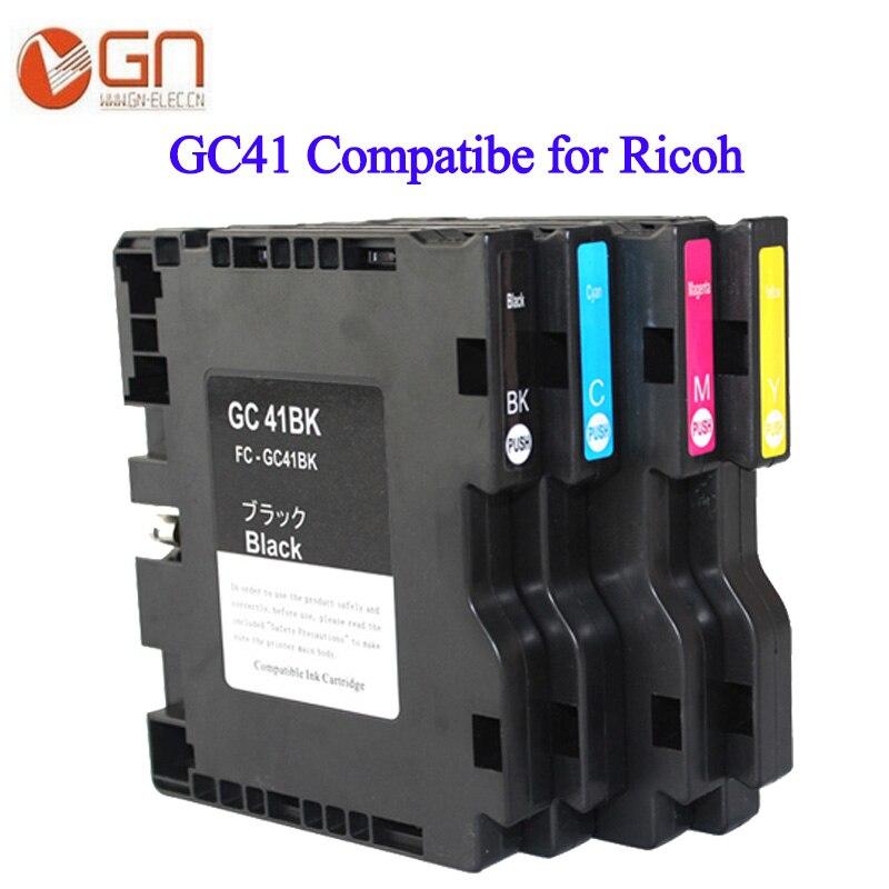 GN para RICOH GC41 cartucho de tinta Compatible para Ricoh GC 41 con tinta de sublimación Aficio SG3110DNW SG3110SFNW SG3100SNW impresora
