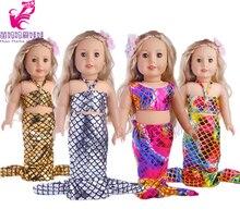 Poupée Clothes18 pouces fille poupée Sirène robe pour 18