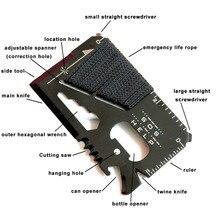 EDC carte de crédit couteau de chasse de poche multifonctionnel Sports de plein air Camping randonnée SOS survie sauvetage outils durgence MJ