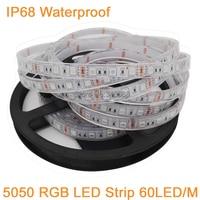 Лента светодиодная SMD 5050 водонепроницаемая, Высококачественная LED полоска для подводного и наружного применения, 300 светодиодов 60 светодиод...