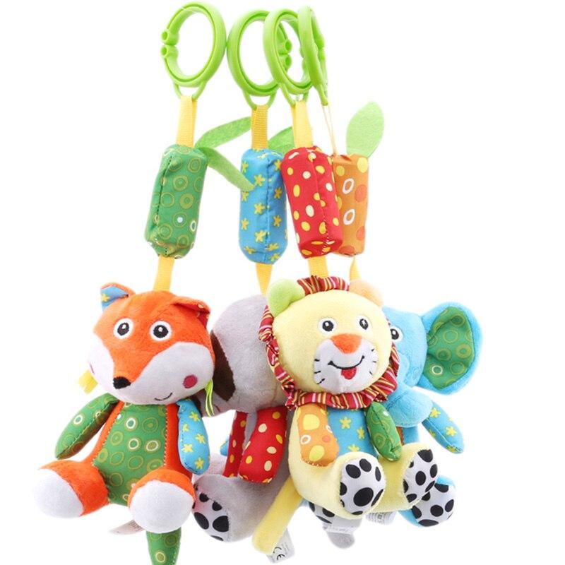 Baby  Rattles Toys Soft Strollers For Dolls Pram Crib Hanging Plush Toys Animal Crib Bed Hanging Bells Toys