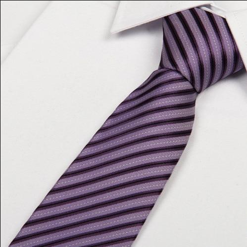 SHENNAIWEI 8 см 2016 Новый Модный Фиолетовый галстук полосатые галстуки мужские галстуки Свадебные Роскошные