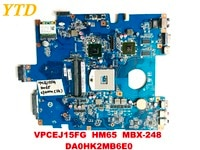 Original for SONY VPCEJ15FG laptop motherboard HM65 MBX-248  DA0HK2MB6E0 tested good free shipping