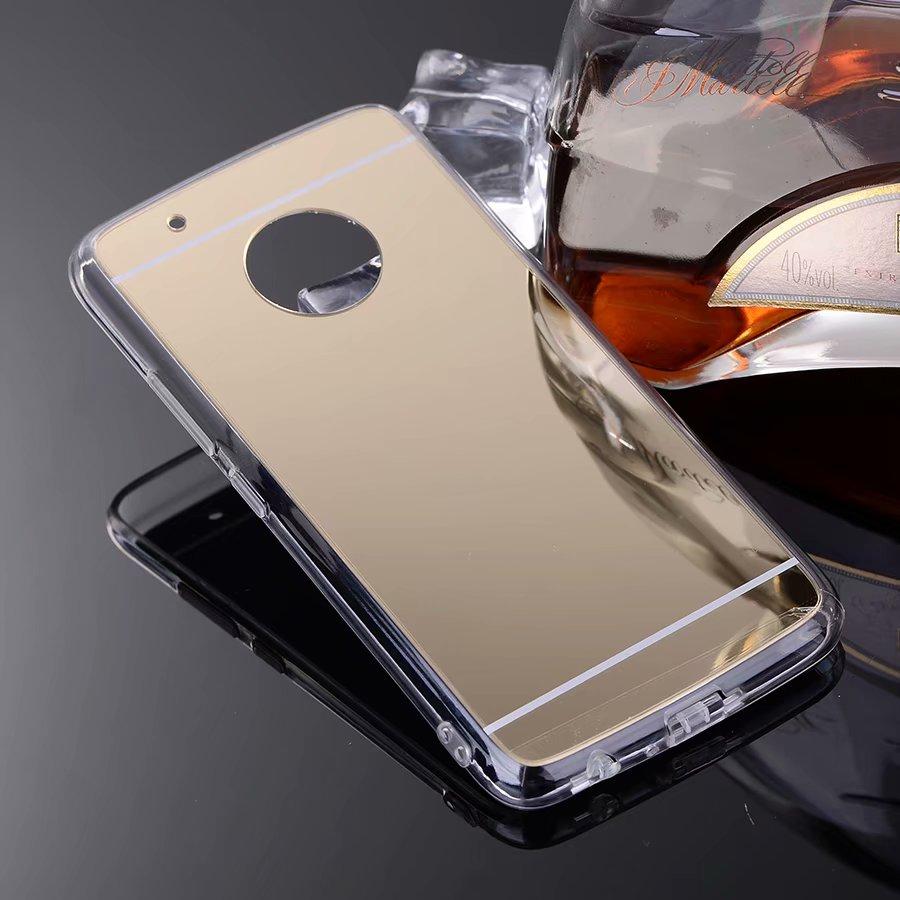 Para Motorola Moto G5 Plus funda con espejo de lujo suave TPU funda para Motorola Moto G6 Plus carcasa trasera para Moto E5 G6 Play