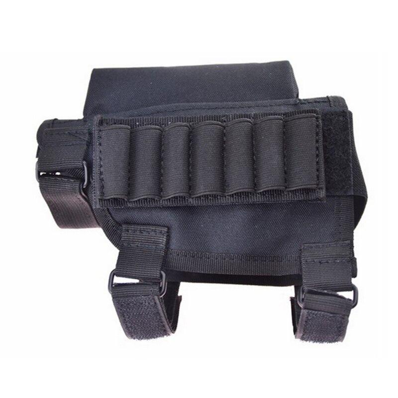 Portable Adjustable Bullet Pouches Tactical Butt Stock Rifle Cheek Rest Pouch Bullet Bag