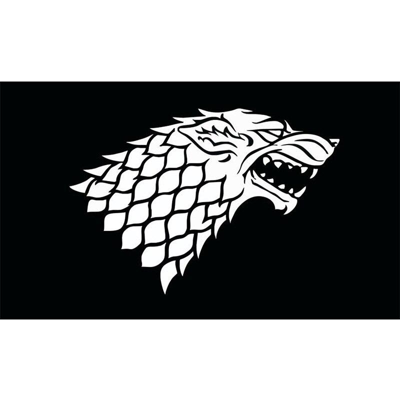 Juego de tronos bandera Yehoy colgante 90*150cm Banner casa Stark Invernalia para Decoración