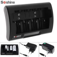 Soshine universel LCD affichage chargeur de batterie 12-18V cc pour Ni-MH/ni-cd/AA/AAA / 9V / D batterie avec prise ue/US