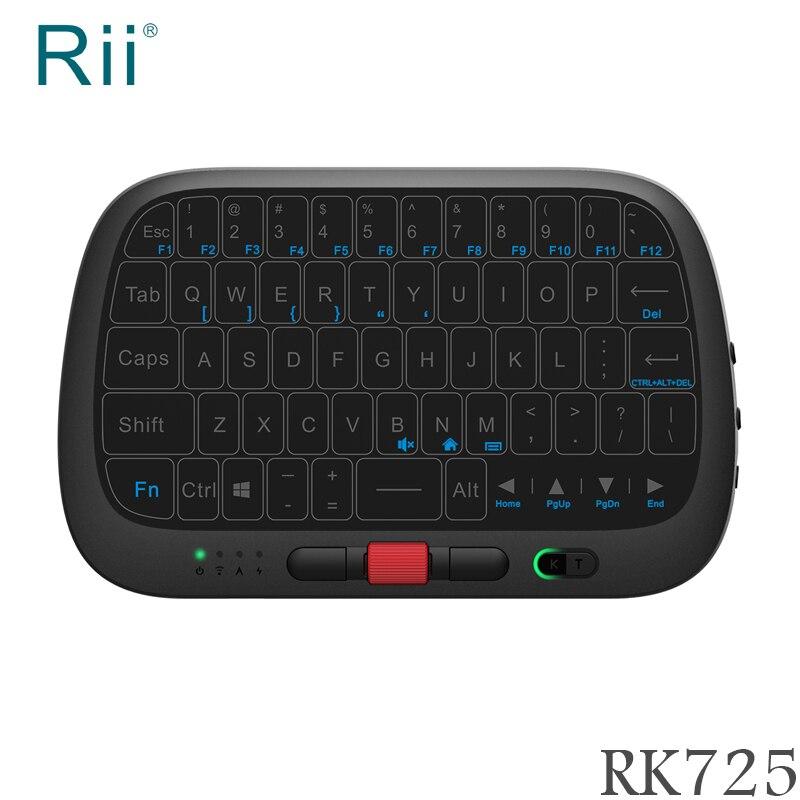 Teclado e Mouse Combo para Android Caixa de tv 2.4g sem Fio Original Mini Completo-touchpad – Computador Portátil Rii i5 Rt725