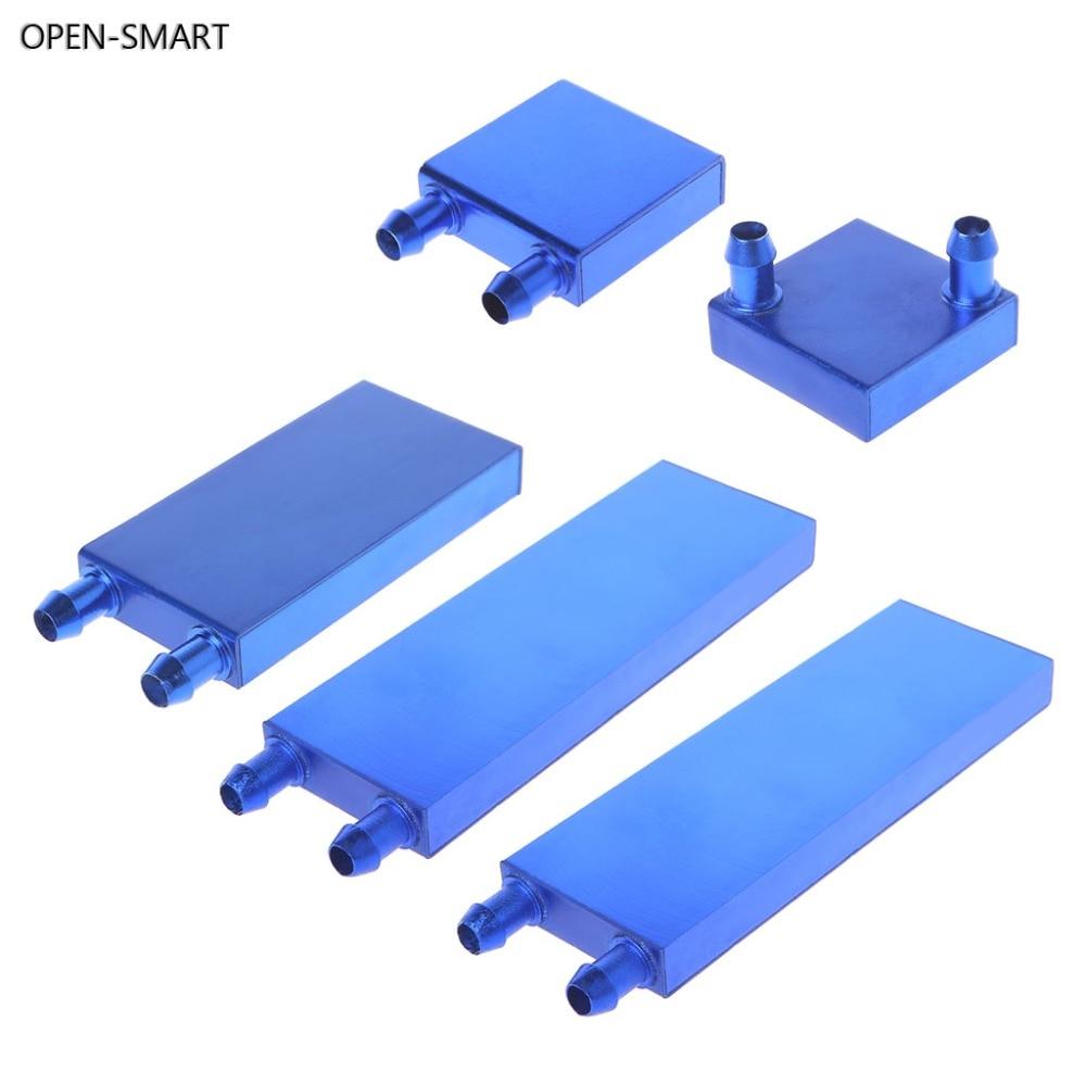 Bloque de enfriamiento de agua de aleación de aluminio inteligente abierto 40 80 120 160mm para PC CPU regazo enfriador de líquido Sistema de plata disipador de calor